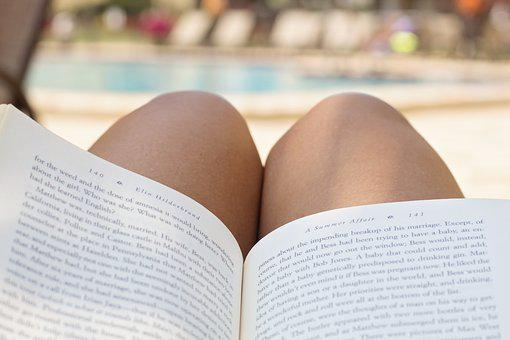 Pool, Reading, Book, Beach, Vacation, Resort, Summer