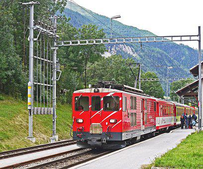 Switzerland, Matterhorn-gotthard-bahn, Regional Train