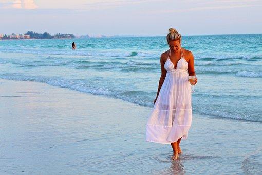 Pretty Girl, Beach, Sea, Sea Side, Resort, Summer