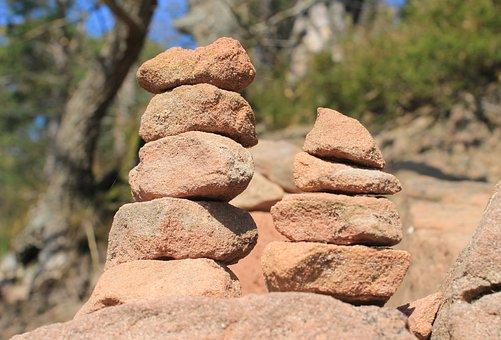 Steinmann, Signpost, Balance, Stones, Nature, Cairn