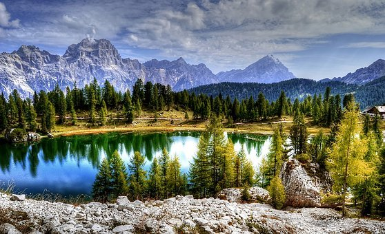Sorapiss, Antelao, Dolomites, Mountains, Alpine, Italy