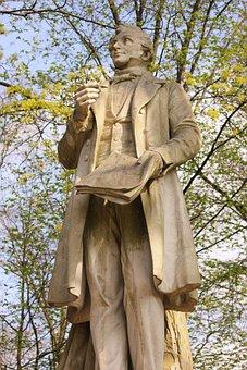 Statue, Tiergarten, Sculpture, Monument, Lortzing