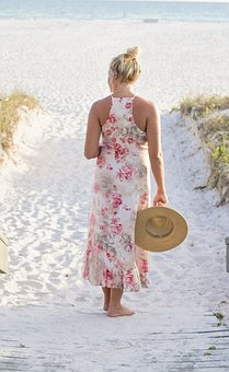 Pretty Girl, Beach, Ocean, Summer, Florida, Sunset
