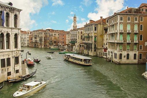 Venice, Venezia, Italy, Italian, Boat, Cruise, Tourists