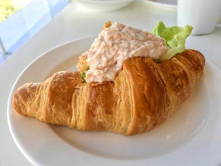 Croissant, Tuna Croissant, Bread, Tuna, Food, Pastry
