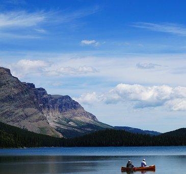 Josephine Lake, America, Usa, Montana, Glacier