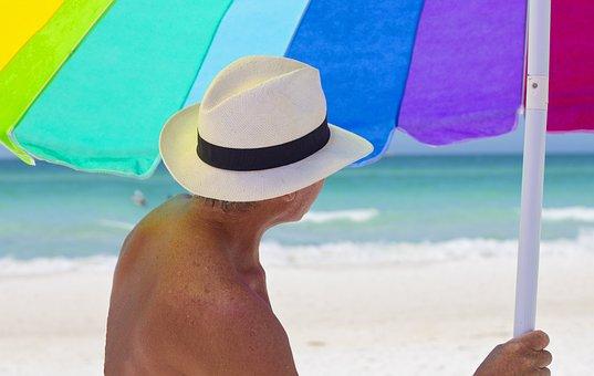 Beach, Umbrella, Colorful, Vacation, Seashore, Summer