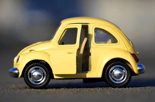 Volkswagen, Yellow, Car, Vehicle, Retro, Vintage, Old