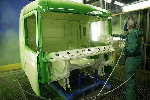 The Truck Cab, Paint, Painting, Hoses, Airbrush
