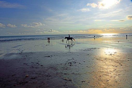 Jimbaran Beach, Jimbaran, Bali, Indonesia, Low Tide