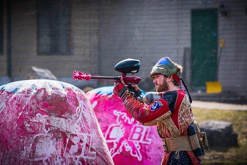 Paintball, Dirty, Paint, Battle, Splatter, Sport, Mask