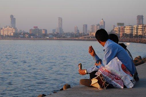 Mumbai, Seafront, Asia, Bay, Boat, Bombay, Britain