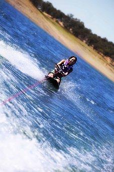 Boating, Lake, Summer, Teen, Knee Board, Travel