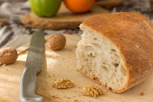Bread, Fresh, Morning, Breakfast, Knife, Wood, Sunday