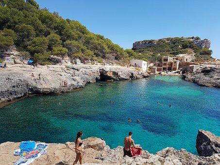 Mallorca, Beach, Cala S'almunia, Mediterranean, Majorca