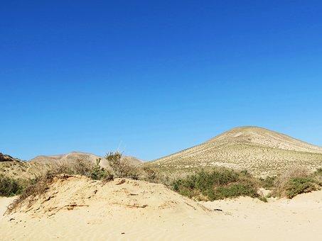 Fuerteventura, Beach, Canary Islands, Landscape, Sky