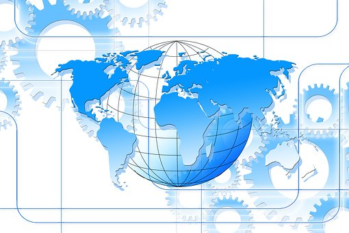 Center, Centered, Globe, Continents, Earth, World