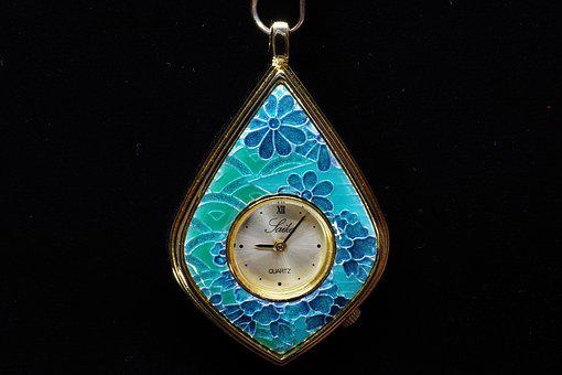 Watch, Pocket Watch, Crafts, Silver Cloisonne