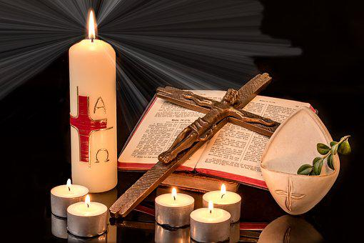 Easter, Easter Candle, Cross, Jesus On The Cross