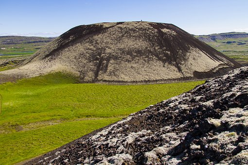 Iceland, Lava, Extinct Volcano, Iceland Moss, Lava Rock