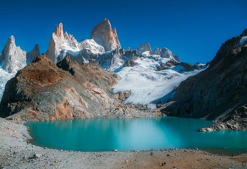 Mount Fitzroy, Patagonia, Mountain, Glacier, Lake