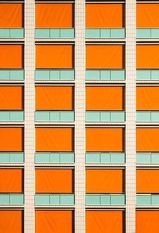 Front Window, Symmetry, Lines, Facade, Home, Building