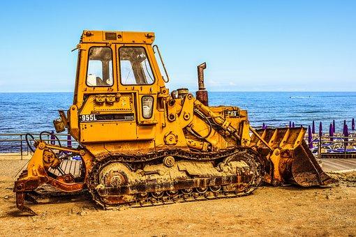 Bulldozer, Heavy Machine, Yellow, Machine, Vehicle