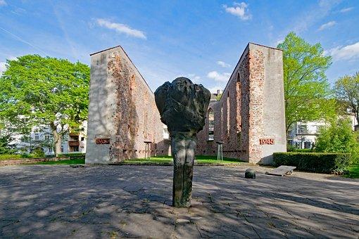 Darmstadt, Hesse, Germany, Kapellplatz, Memorial, Ruin