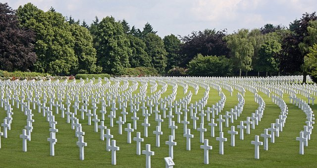 Cemetery, Crosses, Graves, Mourning, Military