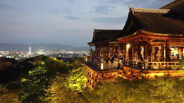 Kyoto, Kiyomizu-dera Temple, Night View
