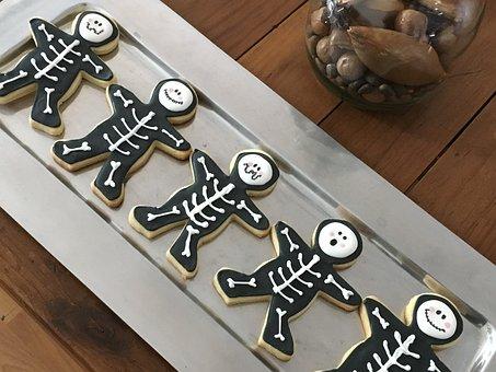 Cookies, Skeletons, Pastry, Love, Dead, Festival