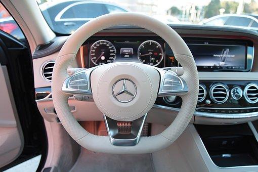 Mercedes, S350, Car, Lux, Steering