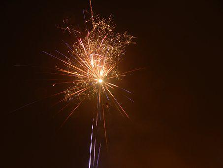 Sparkler, Radio, Glow, Fireworks, Rocket