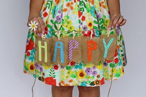 Happy, Fun, Spring, Spring Background, Daisy, Dress