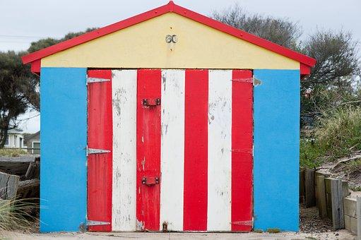 Beach, Beach Box, Sand, Holiday, Summer, Colorful