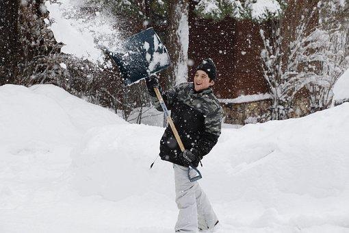 Snow, Shovel, Winter, White, Cold, Season, Snowfall