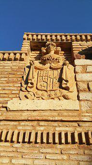 Coat Of Arms, Wall, Stone, Castle Ros, Balsicas, Murcia