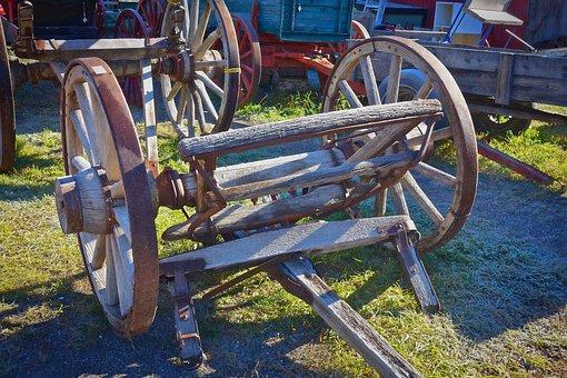 Wheel, Cart, Vintage, Wood, Cartwheel, Carriage