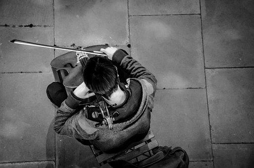 Cello, Player, Busker, Musician, Music, Classical