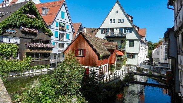 Germany, Ulm, House, Channels