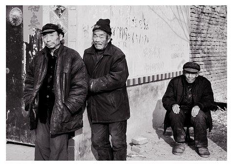 China's Rural Elderly, Black And White, Memory