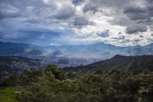 Medellín, Landscape, City, Mountains, Medellin