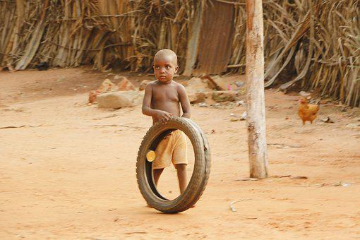 Benin, Africa, African, Child, Game, Simplicity