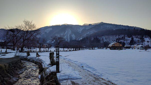 Snow, Brook, Asahi, Snowmelt, Landscape, Morning