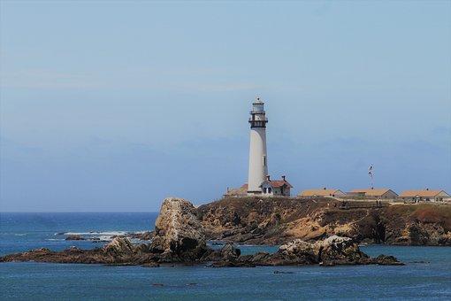 Lighthouse, Seashore, California, Tourism, Landscape