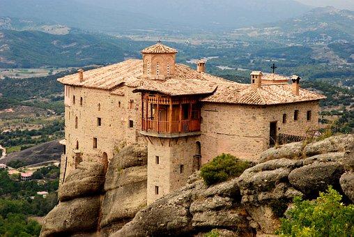 Greece, Kalabaka, Monastery, Nature, Mountains, Temple