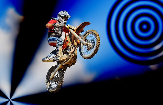 Motorcycle, Human, Motocross, Person, Man, Landscape