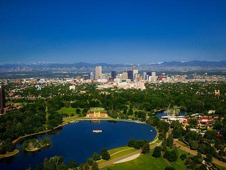 Denver, Colorado, Mountains, City, Urban, Skyline