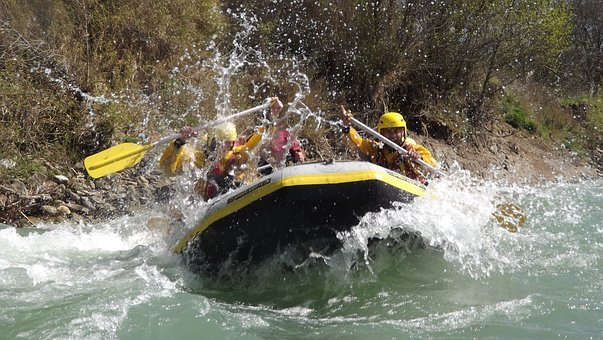 Rafting, Rubber Boat, River, Adventurous, Rapids