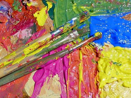 Paint Splatter, Colours, Paint, Splatter, Blue, Red